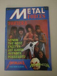 Metal Forces magazine #16-1986-Pantera cover-Metallica-Possessed-Venom-thrash
