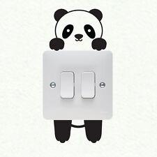 Panda Plaque Murale Interrupteur De Lumière Autocollant Mural Vinyle Décalque Murale Décoration