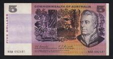 Australia R-202F. (1967) 5 Dollars - Coombs/Randall.. 1st Prefix NAA.. Fine+