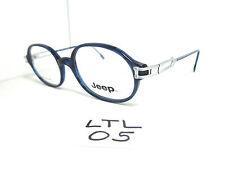 Vtg 1980s early 90s JEEP Eyeglass Frame Round Blue Plastic/Metal (LTL-05)