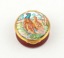 Toye Kenning & Spencer TKS Enamel Box - Decorated Pair Of Pheasants