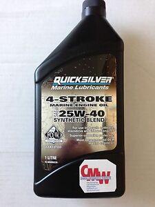 Quicksilver Teilsynthetisches 4-Taktöl 1 Liter für Außenborder SAE 25W40