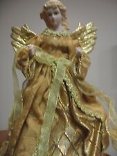 New Angel Christmas Tree Topper - 12 inch Golds