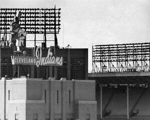 Cleveland Indians Cleveland Municipal Stadium Signed 11x14 Print Photograph