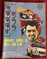 1973 17th Annual Darlington Raceway - Rebel 500 Souvenir Program