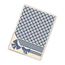 Tattered Lace Card Embossing Folder 4pc 21cm Set - Lattice Bow