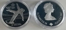 Canada 1987 Large Silver 1 OZ Proof $20 OLympic Figuren Skating