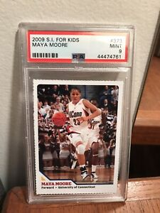 2009 S.I Sports Illustrated WNBA Maya Moore Rookie PSA 9 Mint MVP UConn Pop 1