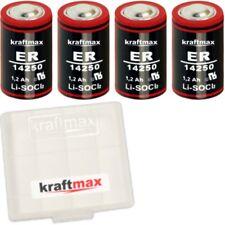 4x Kraftmax Lithium 3,6V Batterie LS 14250 - 1/2 AA - LS14250 Li-SOCl2 Batterien