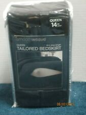 Levinsohn Easy Care Tailored Microfiber 14-Inch Bedskirt Queen Black New