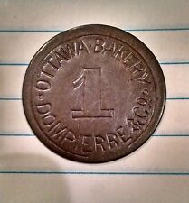 OTTAWA BAKERY ~ DOMPIERRE & CO. 1 LOAF BREAD TOKEN ~ INCUSED TYPE ~ RARE