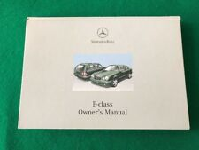 Mercedes-Benz E Class W210 1996-2002 Hardback Owners Manual Look At Photos.