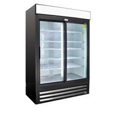 "51"" Heavy Duty 2 Glass Door Drink Display Cooler Refrigerator Vr-45Sld New #9736"