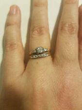 Bridal ring set Antique diamond & gold size 6