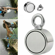 400lb Fishing Magnet Kit Strong Neodymium Pull Force Treasure Hunt Double Sided
