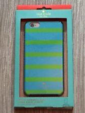 Kate Spade Hybrid Rigida Case Cinetico a Righe Blu Verde Per iPhone 6/6S Plus
