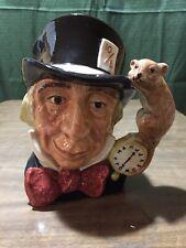 Royal Doulton Mad Hatter Alice in Wonderland Large Character Toby Jug Mug D6598