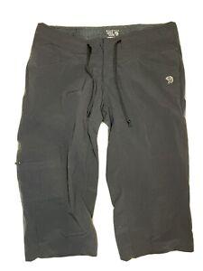 Mountain Hardwear Womens 4 Capri Cropped Pants Nylon Spandex Hiking Black