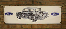 ford anglia 105e   large pvc banner  garage  work shop man cave classic show