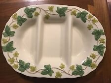 "Franciscan Ivy 3D Divided Dish 17"" 3 Way Divided Portugal. New in box."