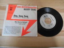 """7"""" Pop Buddy Caine - Ding, Dong, Dang / Mein Herz CBS Promo Blitz-Info"""