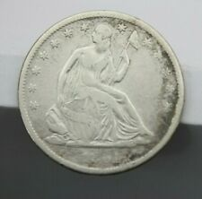 1861 S LIBERTY SEATED HALF DOLLAR VERY GOOD
