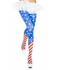 American Flag Spandex Tights - Music Legs 7069