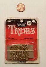 Vintage Craft House Boutique Design-TRIMS Gold Metallic Braid 11 Inches Sealed