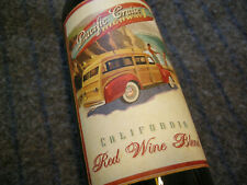 Empty Wine Bottle Pacific Cruise Highway 1 California Red Wine Blend
