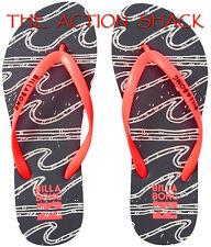 D604 - Billabong Dama Sandals / Flip-Flops * New Womens Sz 9 Neon Coral - #27406