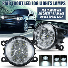 Pair 9 LED Fog Lights Front For Land Rover Discovery 4/Range Rover Sport L322