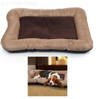 Paw Plush Cozy For Pet Dog Bed Tan Large 33in x24in Lined Memory Foam Soft Relax