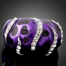 Swarovski Element Crystal Fashion White Gold Plated Ring