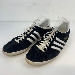 Adidas Vintage Gazelle Men's Trainers Black and White Lace Up UK 11