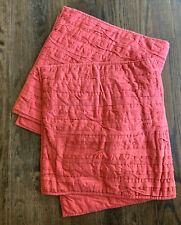 WEST ELM Quilted King Shams Covera Set Of 2 Red