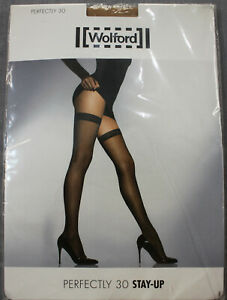 Wolford Womens Gobi Beige Perfectly 30 Stay Up Tights  NWT  XS