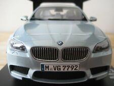 1:18  Paragon BMW M5 Diecast (F10)  Sedan in Silverstone BRAND NEW with STRAPS.