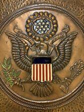 "Vintage Large ""E Pluribus Unum� Copper Tile Hand Hammered Wall Hanging"