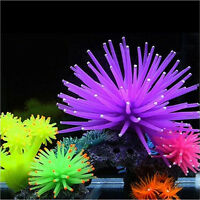 Silicone Aquarium Fish Tank Decor Artificial Corals Plants Underwater Orname$j