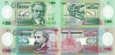 Uruguay 2 Note Set: 20 and 50 Pesos (2020) Series A, p-New Polymer UNC