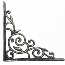 Vintage Wrought Iron Wall Mount Shelf Decorative Garden Metal Bracket Support