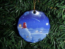 Scandinavian Swedish Christmas Ceramic Ornament Eva Melhuish Shooting Star #21