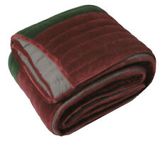 Kaison Maroon Quilts Bedspreads Velvet Cotton Coverlets Stripes (240X260 Cm)