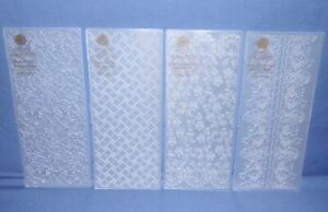 """Anna Griffin Slimline Embossing Folders New HTF 3 Choices UPick Size: 9"""" x 3-3/4"""
