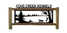 BEARS-BEAR HOUNDS-DOGS-HUNTING-CLINGERMANS OUTDOOR SIGNS-FENCING #BEAR15407
