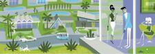 "SHAG Josh Agle ""The Air Up There"" Palm Springs Unframed Serigraph Art Print COA"