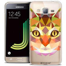 Coque Housse Etui Pour Samsung Galaxy J3 2016 (J320) Polygon Animal Rigide Fin C