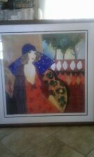 "Vintage Tarkay seriolithograph of  ""Indigo Chapeau"", signed in the plate'"