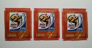 3x Panini World Cup 2010 Brazil  Version Packet Bustina sealed