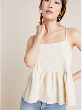 Anthropologie Lace Peplum in Ivory, NWT, S. Orig$68 new Arrival